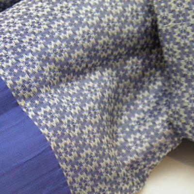 Écharpe Gala - Brocart de soie - Bleu / Ivoire - détail