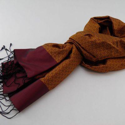 Écharpe Gala - Brocart de soie - Or