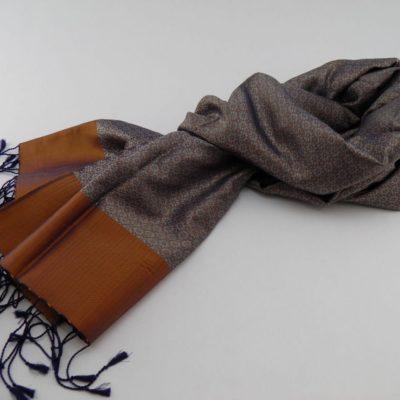 Écharpe Gala - Brocart de soie - Cuivre