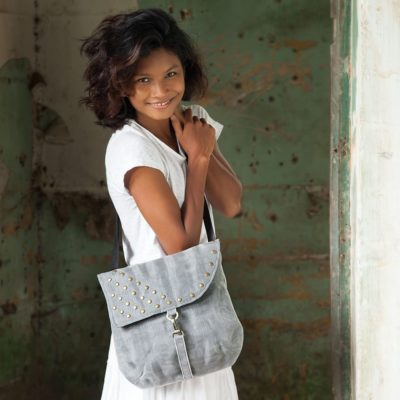 Patch - Ethical Shoulder Bag - Gray