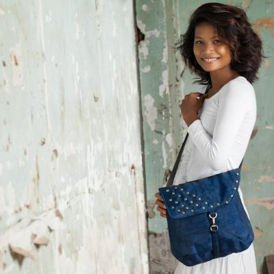 Patch - Ethical Shoulder bag - Navy blue