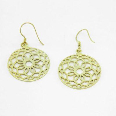 Earrings Rosette – Recycled Brass