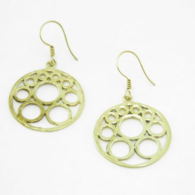 Earrings Bubbles – Recycled Brass
