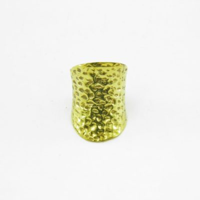 Hammered Ring – Recycled Brass