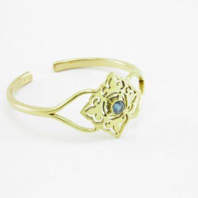 Le Bracelet – Carreau Et Pierre – Laiton Recyclé