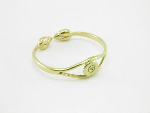 Le Bracelet Laiton Recyclé – Enclume Et Lotus