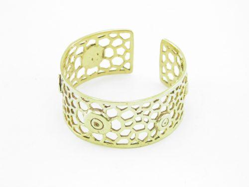 Le Bracelet Laiton Recyclé – Nid D'abeilles Et Enclume