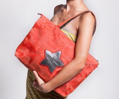 Unit - Ethical Shoulder Bag - Star - Red