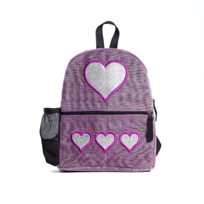 Le Brillant - sac à dos éthique - Lilas - Coeur
