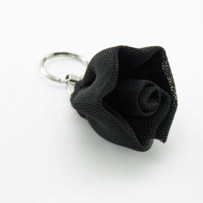 Le Porte-Clés Fleur - Noir