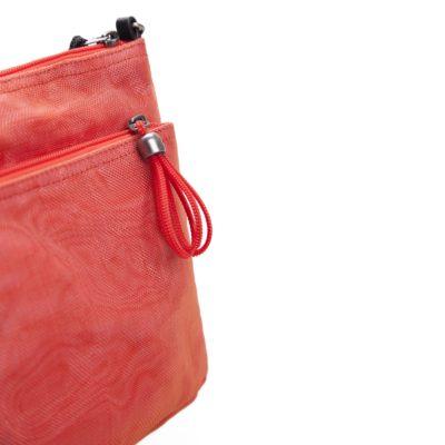 L'Addition - Sac bandoulière éthique - Rouge - détail