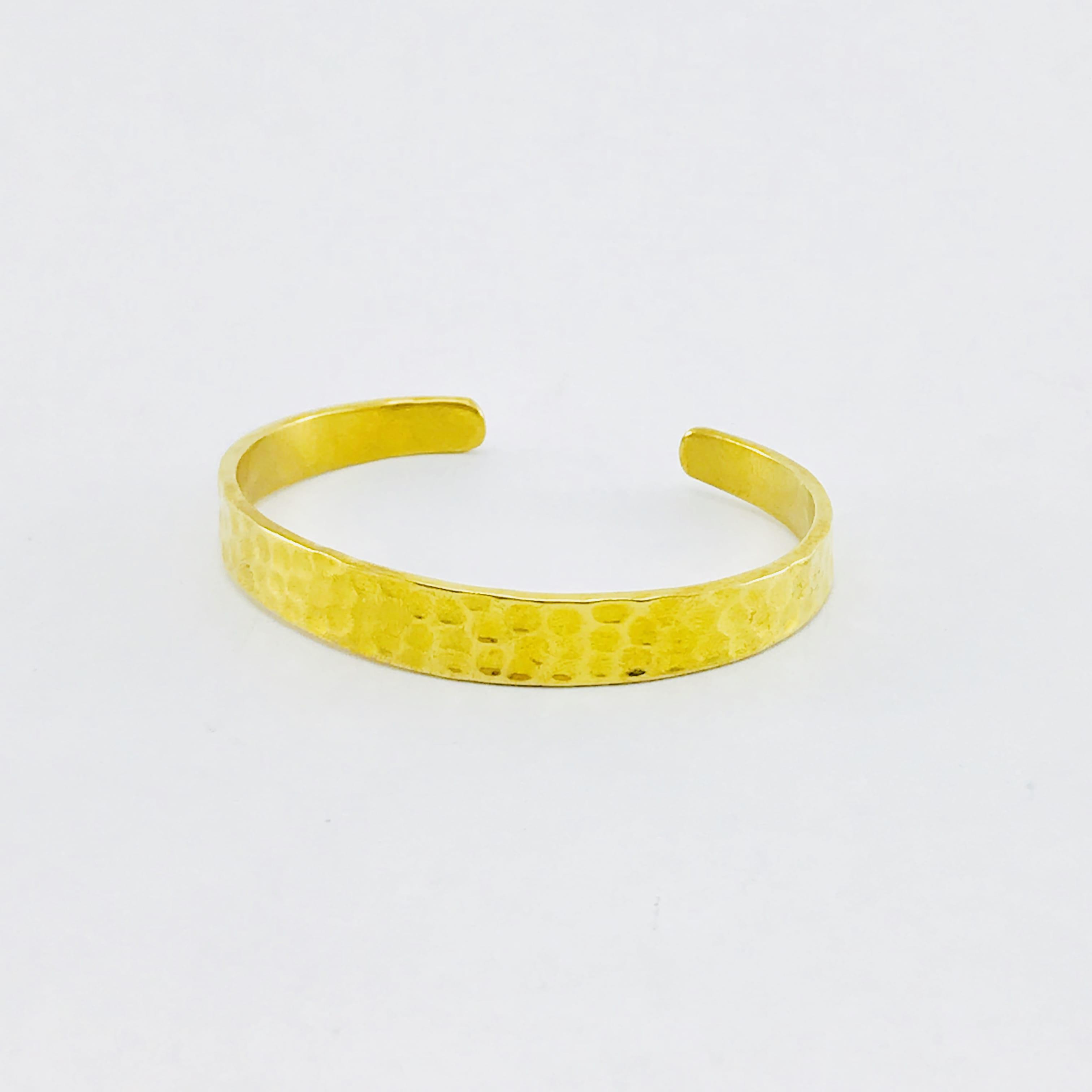Le Bracelet martelé - laiton recyclé