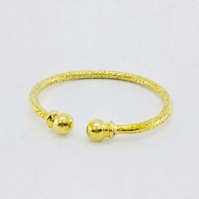 Le Bracelet Martelé Laiton Recyclé – Deux Billes
