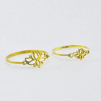 Le Bracelet Laiton Recyclé – Lotus