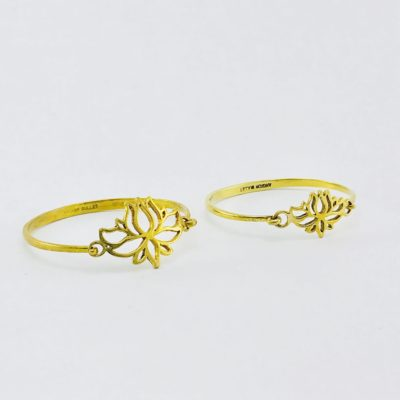 Recycled Brass Bracelet – Lotus