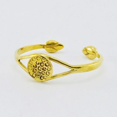 Lotus Heart Bracelet – Recycled Brass