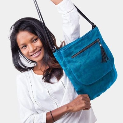 Away - Ethical Crossbody Bag - Oil Blue