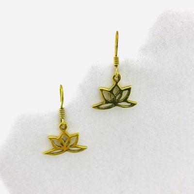 Earrings Lotus Design