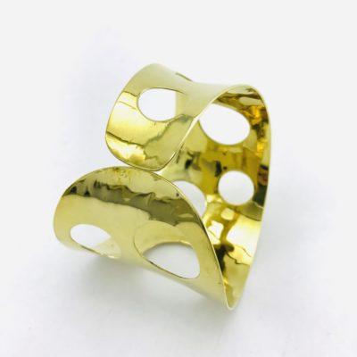 Pierced Bandeau Bracelet – Recycled Brass