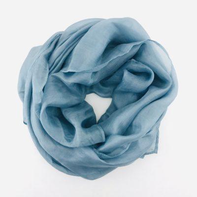 Collection Pierres Précieuses - foulard soie équitable - Labradorite