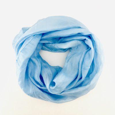Collection Pierres Précieuses - foulard soie équitable - Larimar
