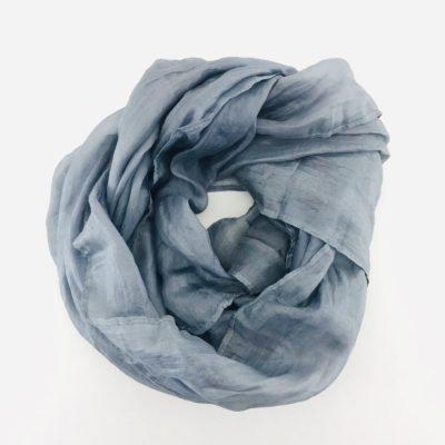 Collection Pierres Précieuses - foulard soie équitable - Perle tahiti