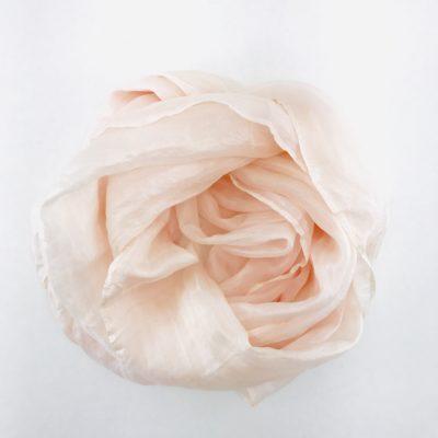 Collection Pierres Précieuses - foulard soie équitable - Quartz rose