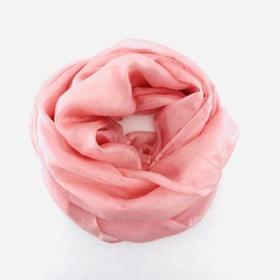Collection Pierres Précieuses - foulard soie équitable - Tourmaline rose