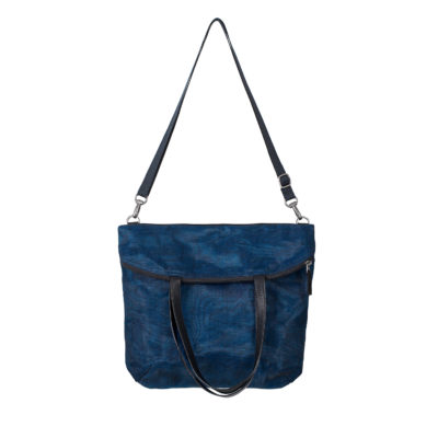 Le Voyageur - Fourre-tout éthique - Bleu marine - bandoulière
