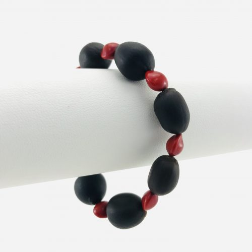 Le Bracelet Lotus - Graines Naturelles - Rouge
